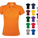 Golf polo shirts for women that aren't pink or pale!