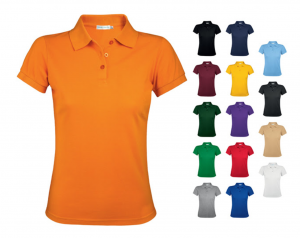 Colourful polo shirts for women