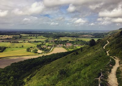 Taking a break from golf - view from the Devil's Dyke