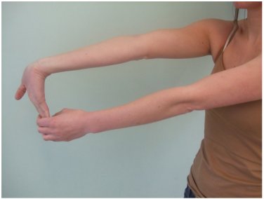 Image of golfer's elbow stretch