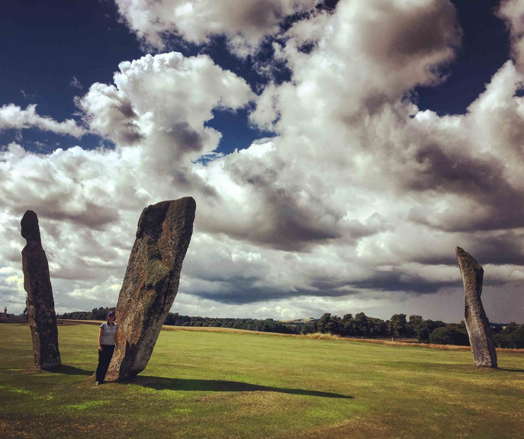 Women-only golf clubs - Standing stones at Lundin Ladies